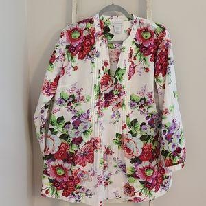 Soft Surroundings♡ Floral vneck tunic top